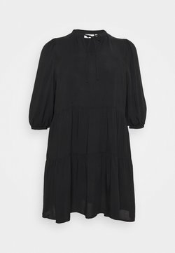 ONLY Carmakoma - CARNEWMARRAKESH 3/4 TUNIC DRESS - Freizeitkleid - black
