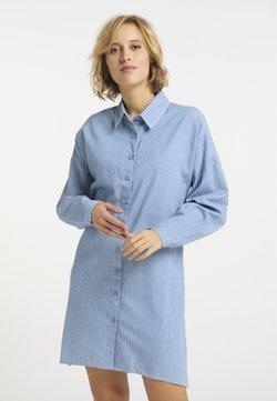usha - Vestido camisero - hellblau