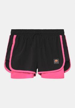 Ellesse - MAYLIA - Pantalón corto de deporte - black/neon pink