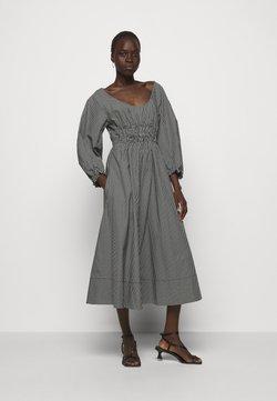 Proenza Schouler White Label - YARN DYE PLAID DRESS - Freizeitkleid - black/white