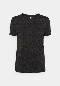 ONLY - ONLGINA LIFE - T-Shirt print - black/leo