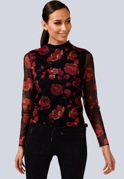 Alba Moda - Langarmshirt - rot/schwarz