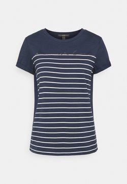 Esprit Collection - LOVE STRIPE  - T-Shirt print - navy
