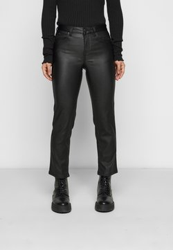 VILA PETITE - VICOMMIT COATED PANT - Pantalon classique - black