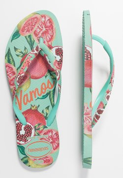 Havaianas - SLIM FIT SUMMER - Teenslippers - green dew