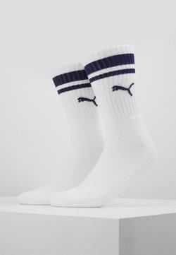 Puma - CREW HERITAGE STRIPE  2 PACK - Socken - white / blue