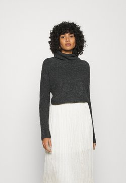 ONLY - ONLOLIVIA LOOSE ROLLNECK  - Jersey de punto - charcoal gray