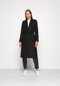 IVY & OAK - DOUBLE COLLAR COAT - Klassinen takki - black