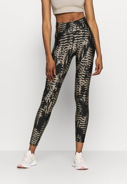 Casall - ICONIC PRINTED - Tights - survive grey metallic