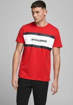 Jack & Jones - SHAKE TEE CREW NECK - T-shirt print - true red