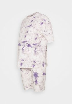 Missguided Maternity - TIE DYE TEE AND CYCLING SET - Jogginghose - lilac