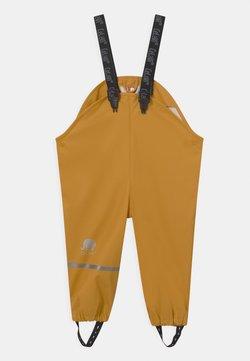 CeLaVi - RAINWEAR PANTS SOLID UNISEX - Pantalon de pluie - mineral yellow