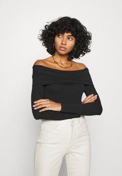 Vero Moda - VMPANDA OFF SHOULDER - Langarmshirt - black