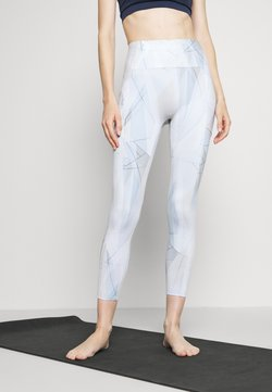 Sweaty Betty - SUPER SCULPT ZIG ZAG 7/8 YOGA LEGGINGS - Tights - white sail
