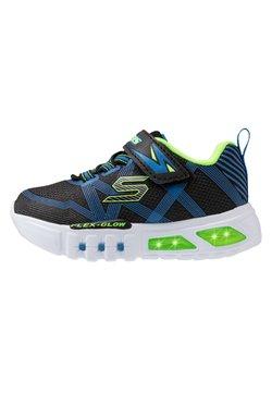 Skechers - FLEX-GLOW - Sneaker low - black/blue/lime