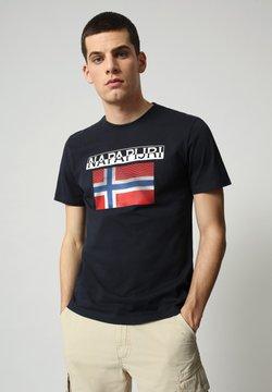 Napapijri - S-SURF FLAG - T-shirt con stampa - blu marine