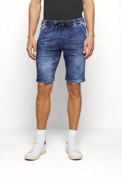 TOM TAILOR DENIM - JEANSHOSEN DENIM JOGGER SHORTS - Jeansshort - blue denim