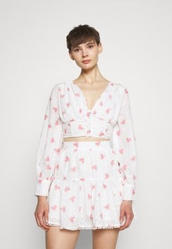 Glamorous - Bluse - rose broderie