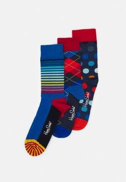 Happy Socks - ARGYLE  BIG DOT  HALF STRIPE 3PACK - Chaussettes - dark blue/navy
