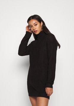 Missguided - ROLL NECK BASIC DRESS - Strikkjoler - black