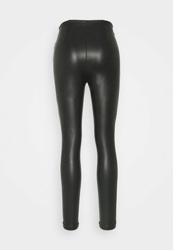 Vila - VIANNAS COATED - Leggings - Hosen - black