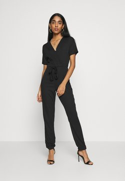Missguided - WRAP JUMPSUIT - Combinaison - black