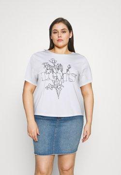 Levi's® Plus - GRAPHIC SURF TEE - T-shirt med print - white