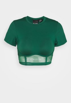 adidas Originals - IVY PARK CORSET CROP - T-shirt basic - darkgreen