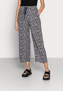 Lindex - TROUSERS BELLA CROPPED - Stoffhose - navy