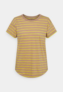 Madewell - SORREL WHISPER CREWNECK TEE IN LOBSTER STRIPE - T-Shirt print - faded earth