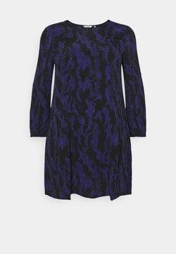 MY TRUE ME TOM TAILOR - DRESS SLEEK CREW NECK - Freizeitkleid - black/lilac