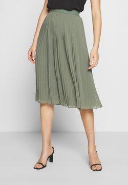 NA-KD - PLEATED SKIRT - Spódnica trapezowa - khaki green