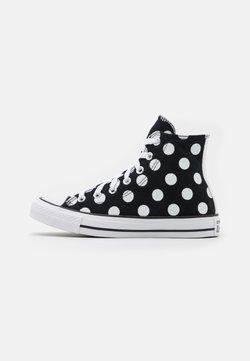 Converse - CHUCK TAYLOR ALL STAR POLKA DOT GLITTER - Korkeavartiset tennarit - black/white