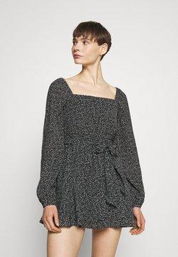 NA-KD - PAMELA REIF X ZALANDO OVERLAPPED FRILL MINI DRESS - Freizeitkleid - black