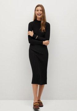 Mango - FLURRY - Gebreide jurk - noir