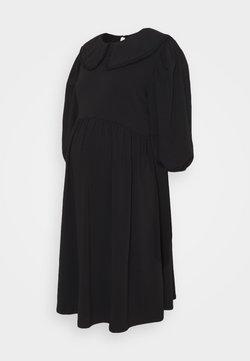 ONLY - OLMLIVE LOVE COLLAR DRESS - Vestito di maglina - black
