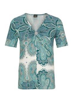 s.Oliver BLACK LABEL - T-Shirt print - off-white, light blue