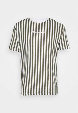 Nominal - STRIPE TEE - T-Shirt print - white