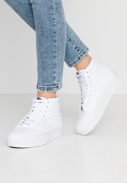 Vans - SK8 PLATFORM  - Korkeavartiset tennarit - true white