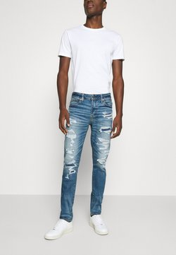 American Eagle - MEDIUM MENDED SKINNY - Jean slim - medium destroy