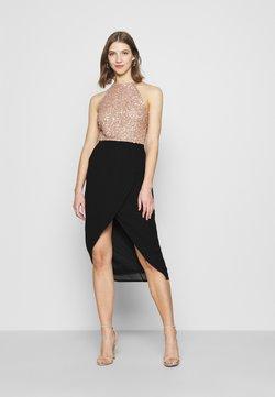 Lace & Beads - ASTON AVA WRAP DRESS - Cocktailkleid/festliches Kleid - mocha/black