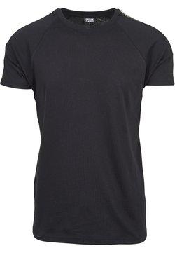 Urban Classics - STRIPE SHOULDER RAGLAN - T-Shirt print - black/firered/green