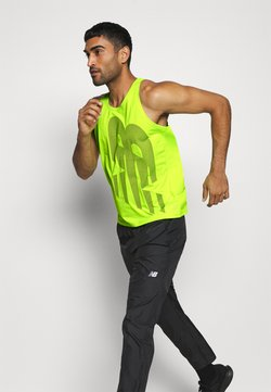 New Balance - PRINTED ACCELERATE SINGLET - Top - neon green