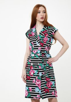 Madam-T - ATERATA - Freizeitkleid - schwarz, rosa