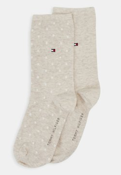 Tommy Hilfiger - WOMEN SOCK DOT 2 PACK - Socken - light beige melange