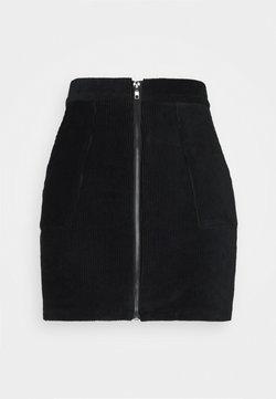 Even&Odd Petite - CORDUROY high waisted skirt - Minirok - black