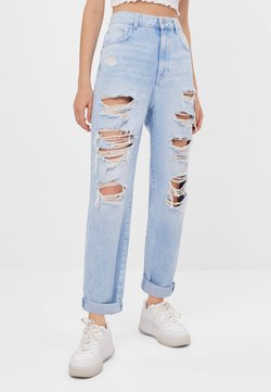 Bershka - MOM MIT RISSEN - Jeans relaxed fit - blue