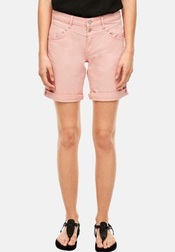 Q/S designed by - BERMUDA - Jeansshort - coral rose