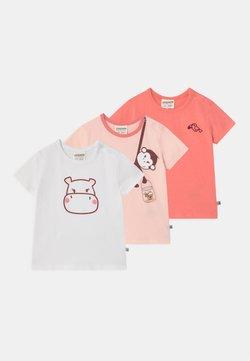 Jacky Baby - JUNGLE GIRL 3 PACK - T-shirt imprimé - light pink/white