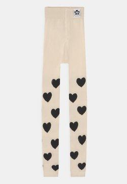 Mini Rodini - HEARTS UNISEX - Leggings - off white